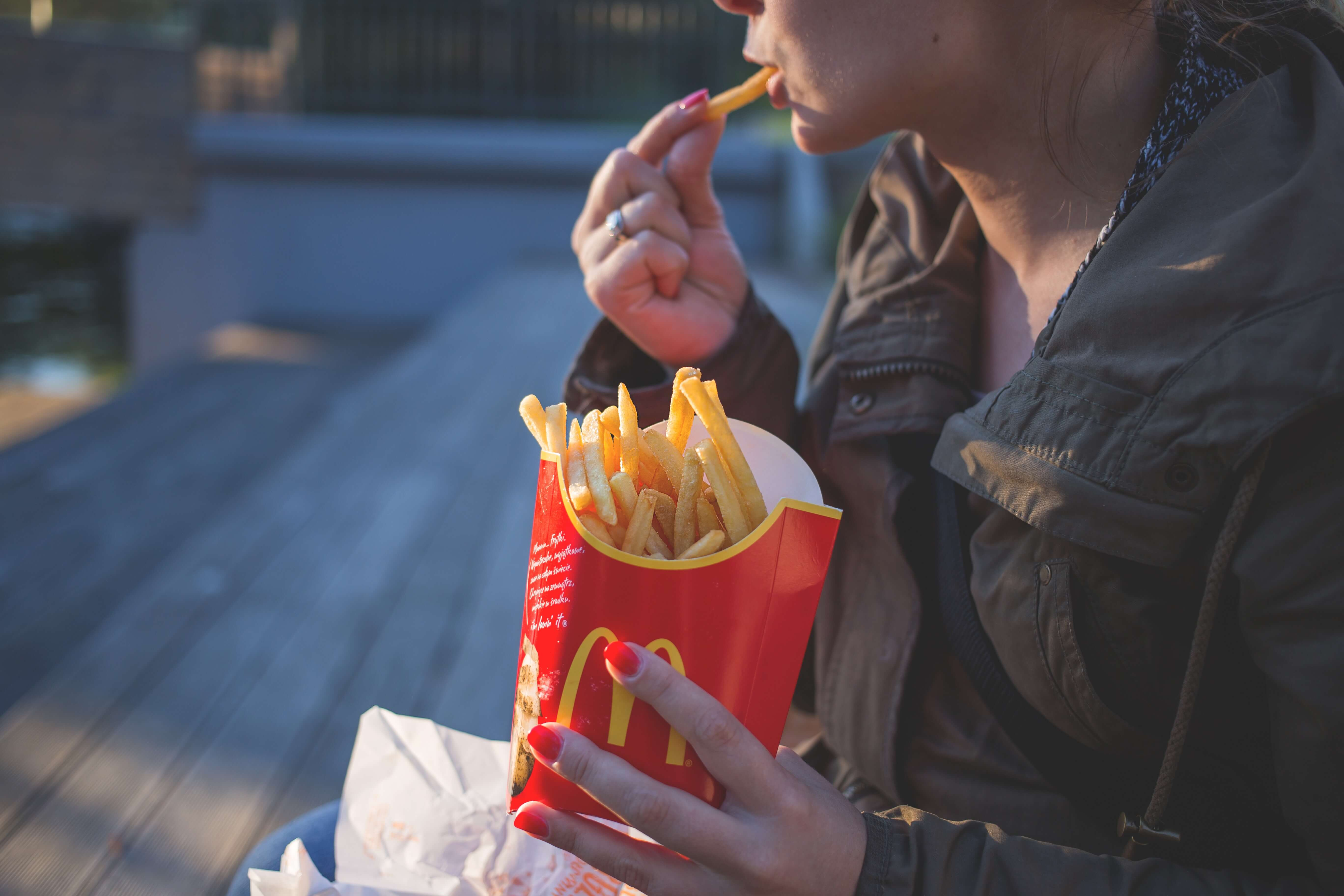 McDonald's fries eating