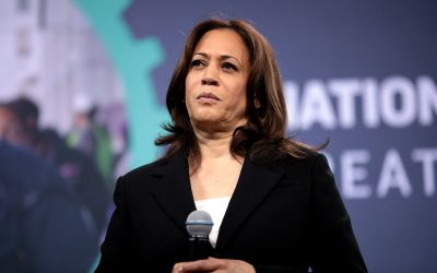 Animal Rights Protester Grabs Microphone From Kamala Harris