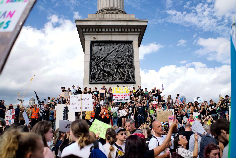 London vegans march