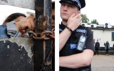 Banned from Protesting in London, Activists Storm Local Slaughterhouse