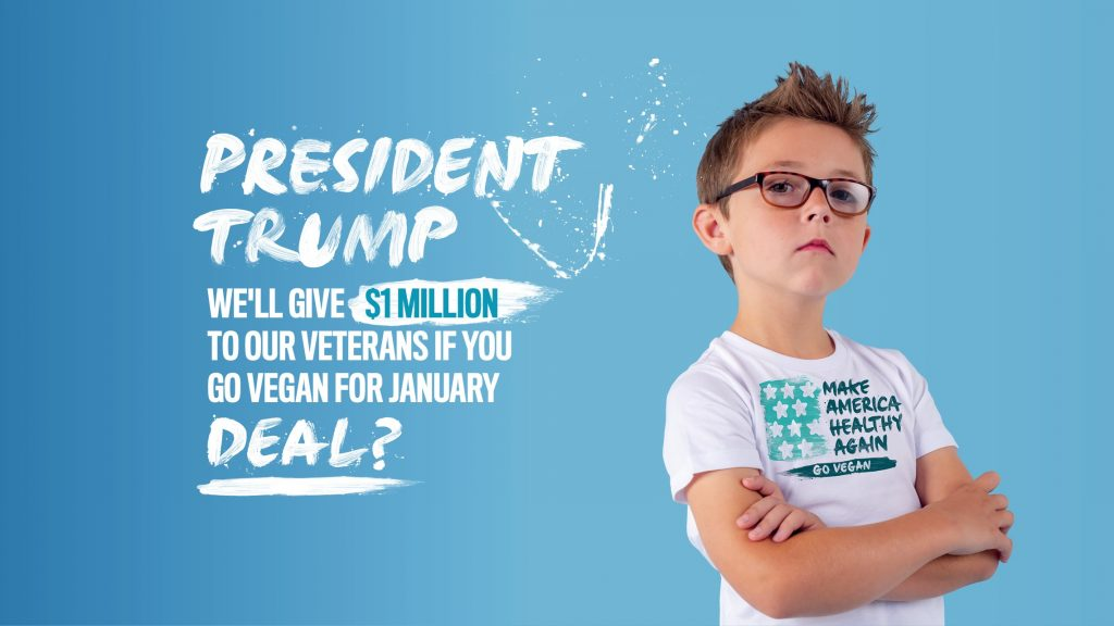 Deal for Trump: Go Vegan for January and Veterans Get $1m