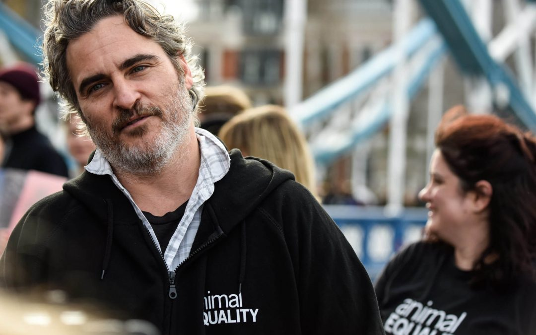 Joaquin Phoenix Urges People to Eat Plant-Based at London Protest
