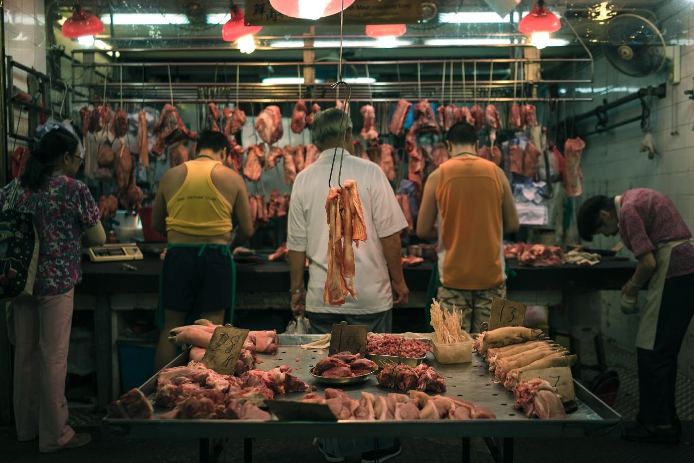 wet market meat