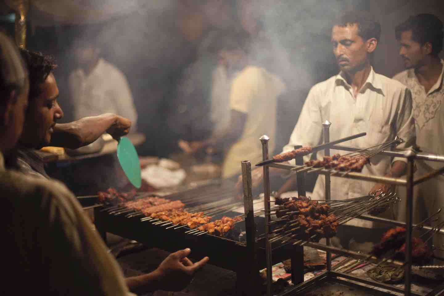 india meat stall